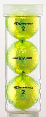 Green Neon Golf Balls - Chromax O.V. 3 Ball Tube