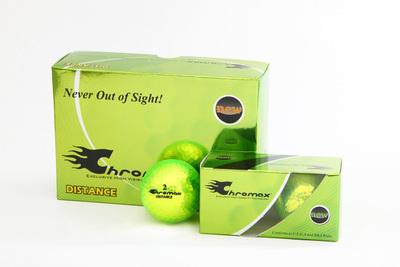 Green Neon Golf Balls - Chromax Distance Half Dozen