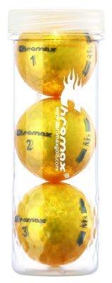 Chromax® Colored Gold Golf Balls - Metallic M5 3 Ball Tube