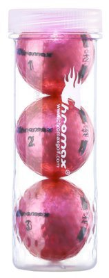 Chromax® Colored Pink Golf Balls - Metallic M5 3 Ball Tube