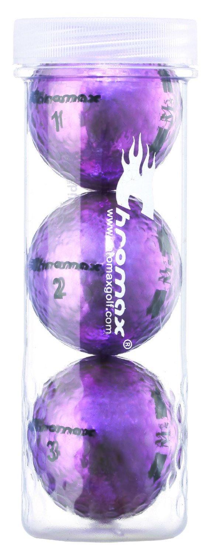 Chromax® Colored Purple Golf Balls - Metallic M5 3 Ball Tube