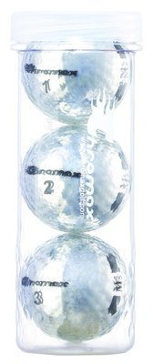 Chromax® Colored Silver Golf Balls - Metallic M5 3 Ball Tube
