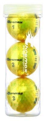 Chromax® Colored Yellow Golf Balls - Metallic M5 3 Ball Tube