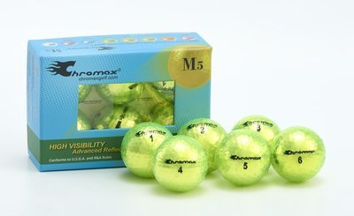 Chromax® Colored Green Neon Golf Balls - Metallic M5 6 Ball Pack