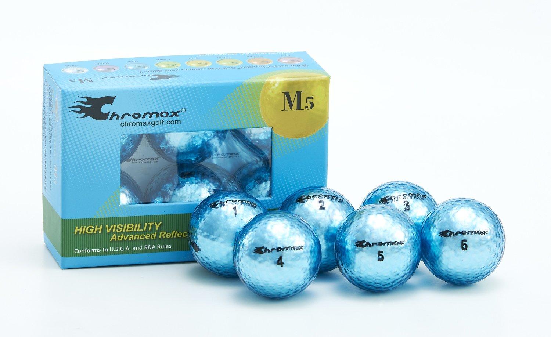 Chromax® Colored Blue Golf Balls - Metallic M5 6 Ball Pack