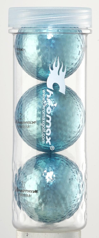Blue Golf Balls - Chromax M1x 3 Ball Tube