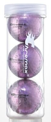 Purple Golf Balls - Chromax M1x 3 Ball Tube