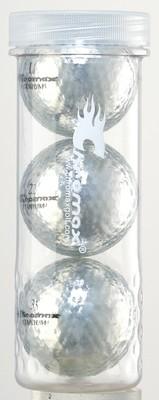 Silver Golf Balls - Chromax M1x 3 Ball Tube