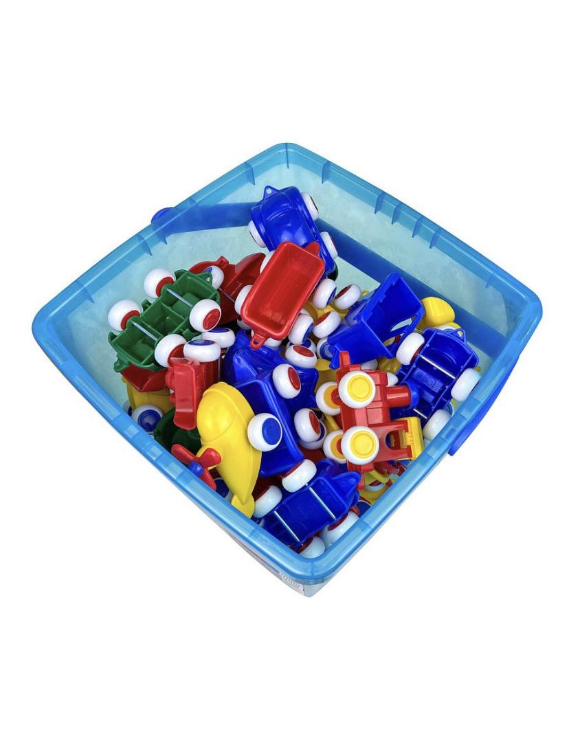 Набор машинок в пластиковом ведре, 50шт.