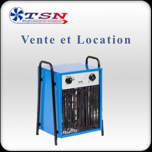 Vente et location chauffage électrique type aérotherme électrique DEH9 380/3 - 9KW avec thermostat