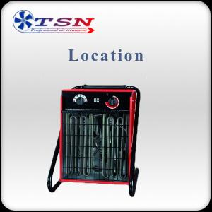 Location chauffage aérotherme électrique BX9 380/3 - 9 KW avec thermostat