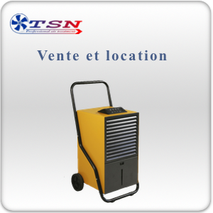 Déshumidificateur Teddington Secosteel PRO 30 avec réservoir et option pompe  max. 26L/24H - 380 m3/h