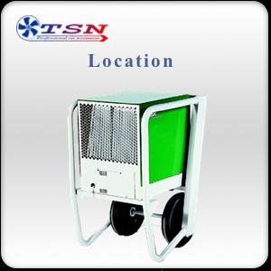 Location déshumidificateur professionnel EBAC BD12 sans réservoir max. 100 L/24H - 700 m3/h