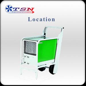Location déshumidificateur professionnel EBAC BD5 sans réservoir max. 60 L/24H - 350 m3/h