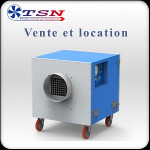 Location et vente Caisson de filtration /  Purificateur d'air mobile  LR2000