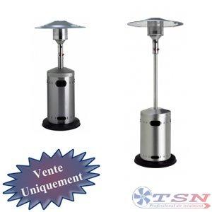 Radian gaz de type parasol Inox Poli 8 KW mât rétractable