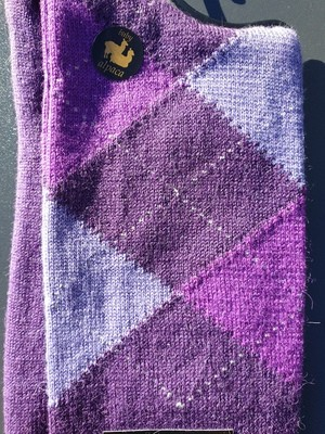 Socks - Ladies Argyle Purple