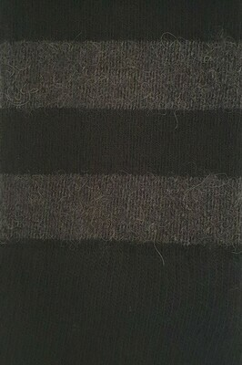 Sock - Striped - Black - Small