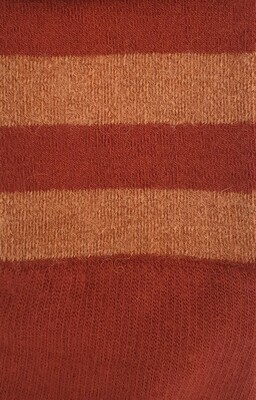 Sock - Striped - Terracotta- Small