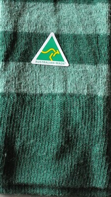 Sock - Striped - Hunter Green - Small
