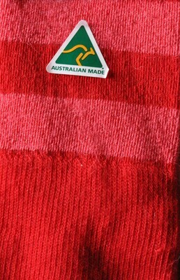 Sock - Striped - Red - Medium