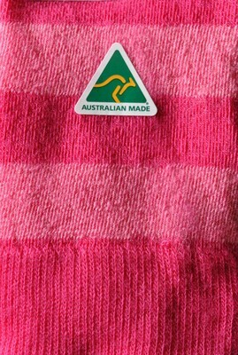 Sock - Striped - Fuchsia - Small