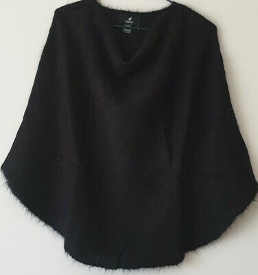 Poncho - Black - One size