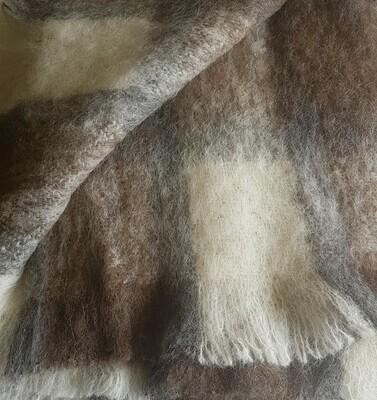 Brushed Knee Rug -Rose Grey Check