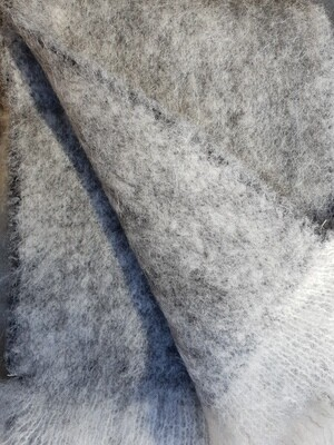 Scarf - Brushed Light Grey