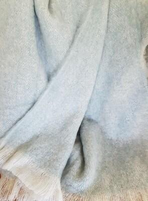 Brushed Knee Rug - Glacier/White