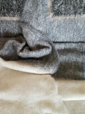Brushed Throw Rug - Grey Stripe