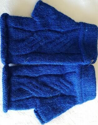 Gloves - Fingerless - Blue