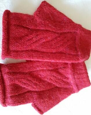Gloves - Fingerless - Red