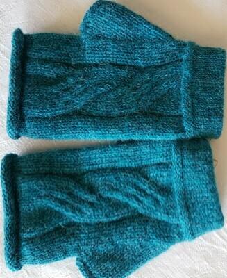 Gloves - Fingerless - Teal