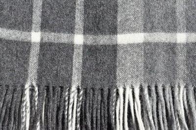 Throw Rug Alpaca/Wool Charcoal Check