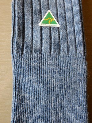 Sock - Ribbed - Denim - Large