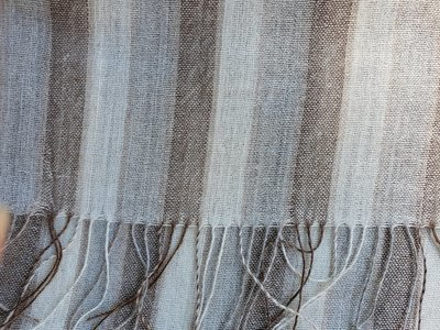 Scarf - Natural Stripe