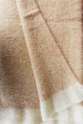 Semi - brushed Throw Rug - Natural