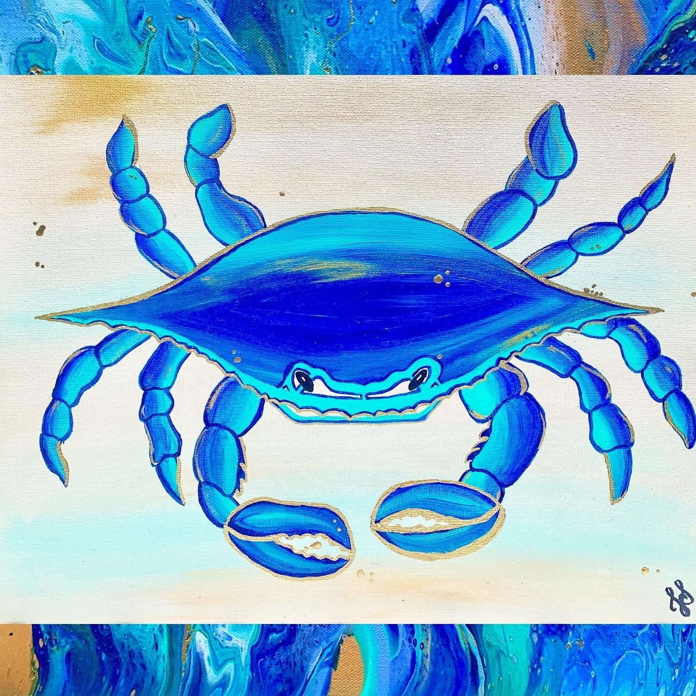 Blue Crab V Print