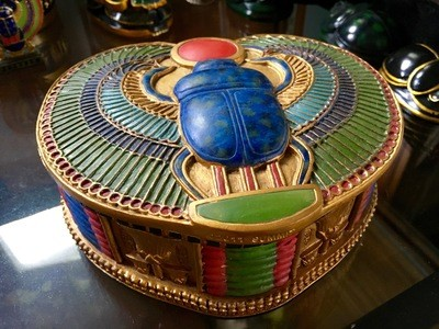 Winged Scarab Box