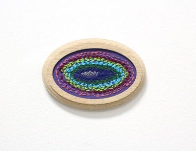 Cassie Flanagan, Eyeball embroidery