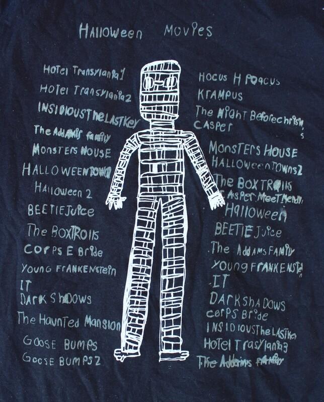 """David """"Movie List"""" Shirt"""