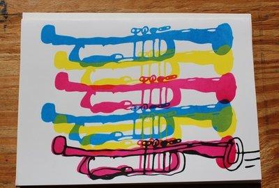 Trumpet Card by Jerard Harris