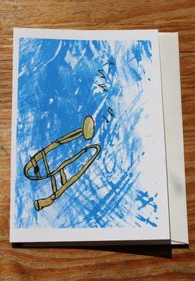 Trombone Card by Jerard Harris