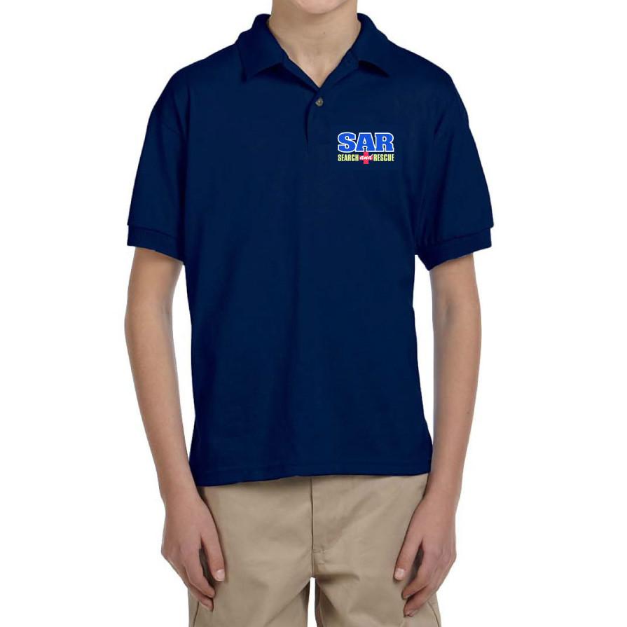 YOUTH Short Sleeve Polo (Dri-Wear): SAR