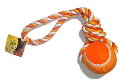 Large Tennis Ball Tug with Rope