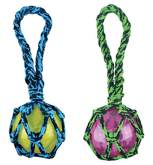 Paracord Rope Tug with Squeaker Ball