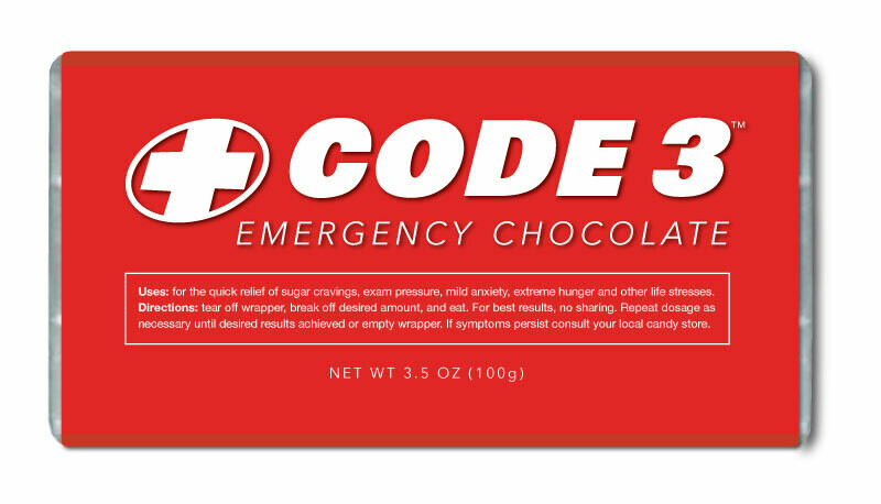 Code 3 Emergency Chocolate Bar