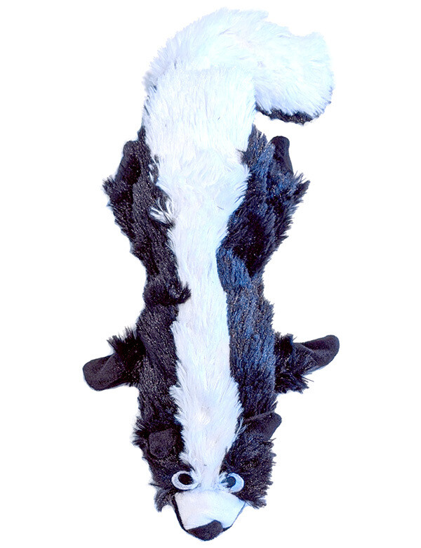Bottle Plush Dog Toy: Skunk