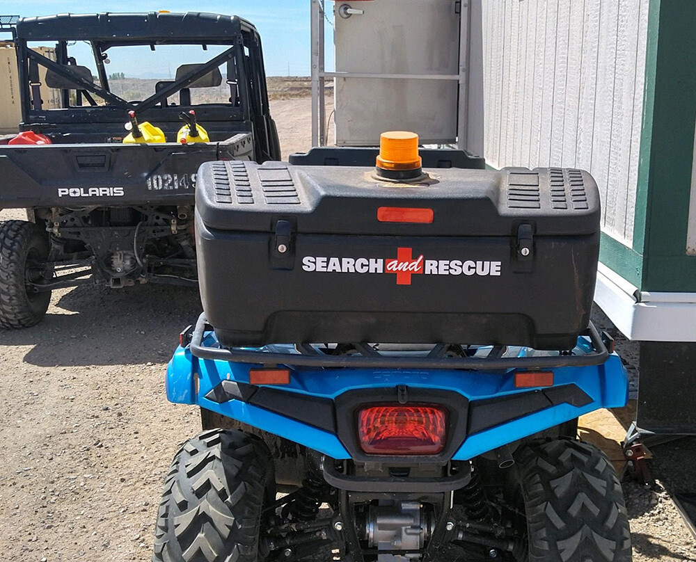 Window Decal (Reflective Die-Cut): SEARCH + RESCUE